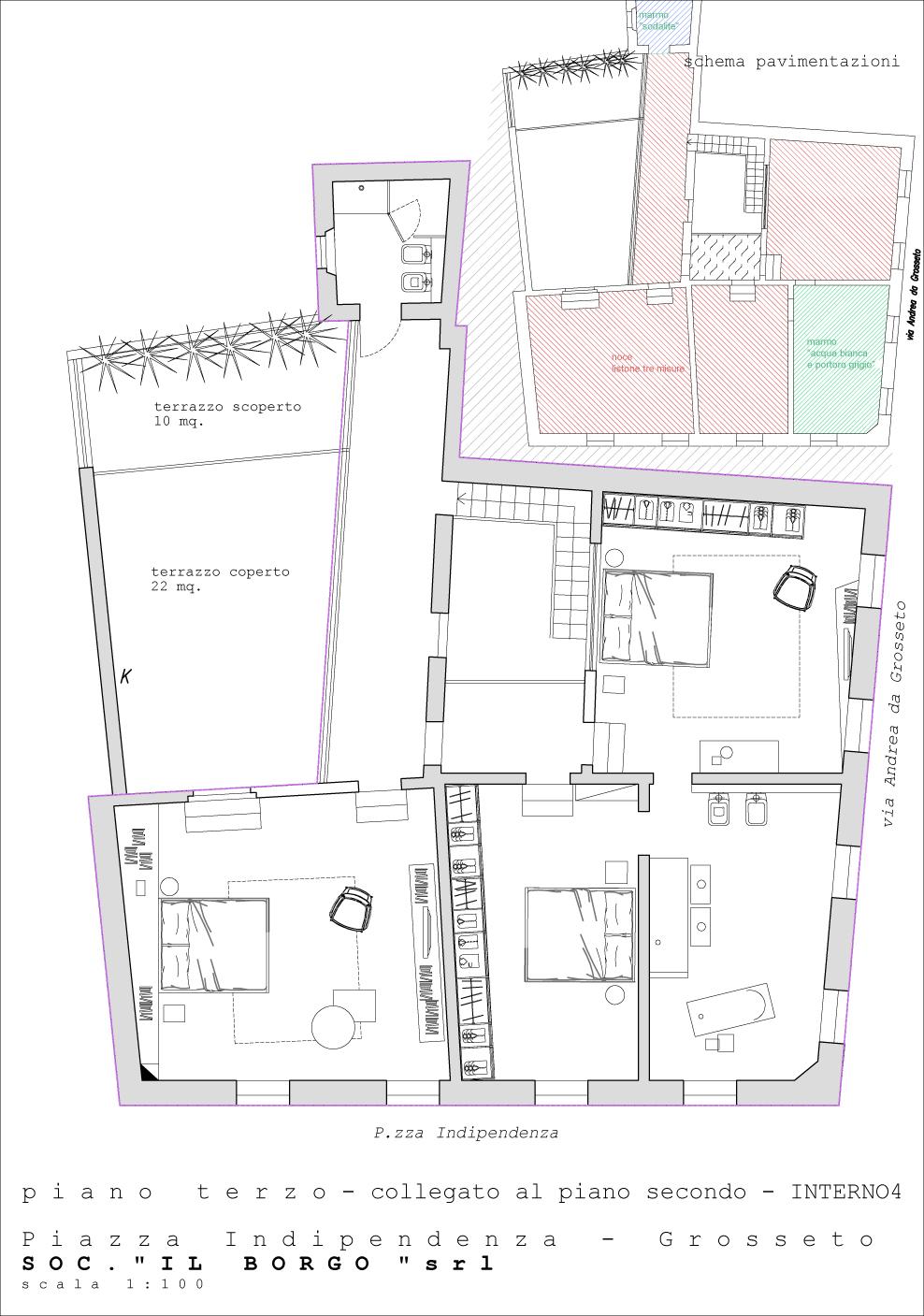 Interno 4 Attico Duplex palazzo Indipendenza